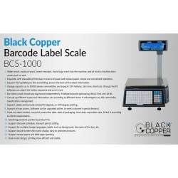 Black Copper BCS-1000 Barcode Weighing Scale