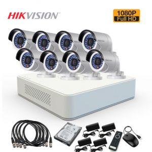 TURBO HD 2MP -1080P CCTV 8 CAMERA PACKAGE with 1TB