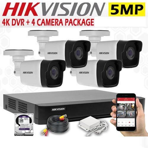 5MP CCTV 4 Cameras + 4K Lite DVR