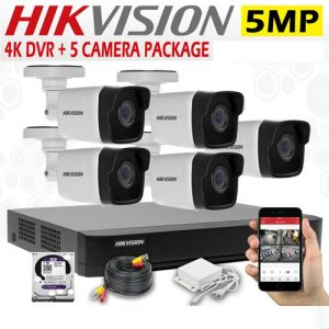 5MP CCTV 5 Cameras + 4K Lite DVR