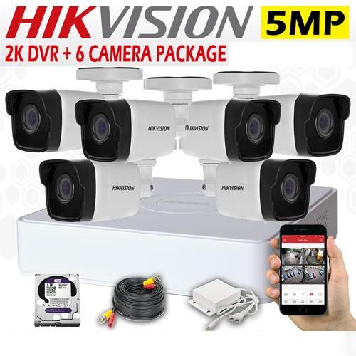 5MP CCTV 6 Cameras + 4K Lite DVR