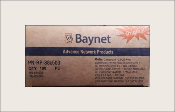 BAYNET RJ45 CONNECTORS Cables