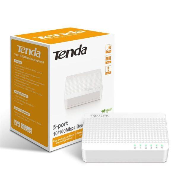 TENDA 5 PORT 10/100 DESKTOP SWITCH CCTV System Router